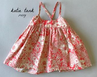 SAMPLE SALE -  Katie Tank in Poppy - Size 4