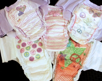 Goodnights Bedtime Underwear Diapers size XL-XXL fits 120-250 lbs. Custom Adult ABDL Plus size! Girls/Women's Design