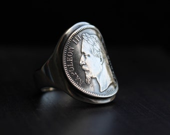 Napoleon - coin - silver Signet Ring