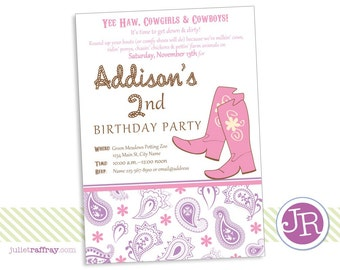 Yee Haw Birthday Invitation