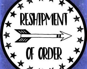 Reshipment of order