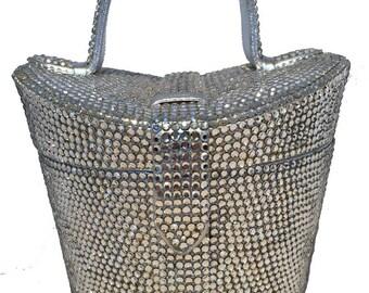 Judith Leiber Vintage Swarovski Crystal Basket Evening Bag