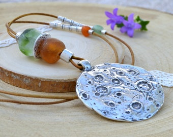 Moon necklace Long necklaces for women Hippie Mothers day gift For women Bohemian jewelry Birthday gift for her Pendant necklace girlfriend