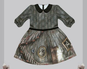 Haunted Mansion dress series by Violet Fane · Gothic Horror Lolita Jersey Dress