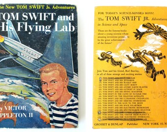 Tom Swift Book 1954 Vintage, Science Fiction, Adventure Stories, Spaceships, Rockets, Robots, Science Fiction