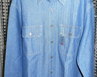 AWSOME  VINTAGE  70's or 80's     LEVIS    Classic Jean  Shirt Jacket,      Never Worn,   Still with tags