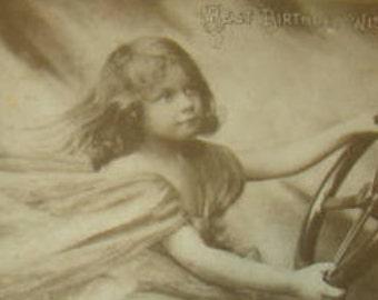SALE Vintage RPPC (Little Girl)