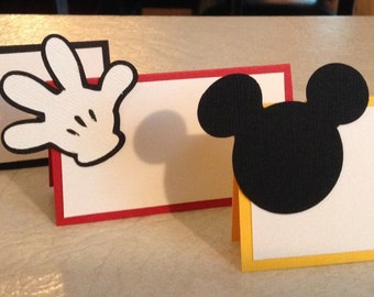 Mickey Mouse themed place cards - Party Supplies, Party Decorations