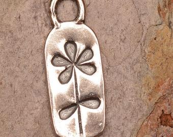 Artisan Flower Charm in Sterling Silver