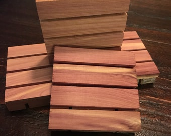 Cedar Soap Dishes 3x3 bulk