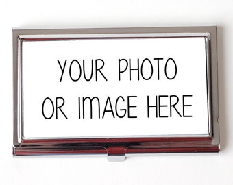 Custom Business Card Case - Custon Photo Business Card Case - Custom Logo Business Card Case