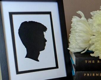 Custom Silhouette (from your photo) - Digital File - print yourself - Single Profile Portrait