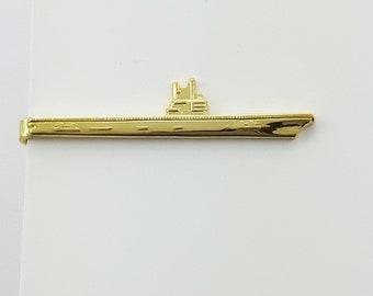 Ocean Liner Tie Clip in Gold