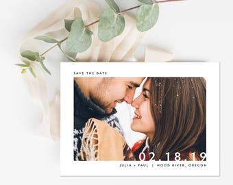 Photo Save the Date, Simple Save the Date, Big Numbers Save the Date, Engagement Photo Save the Date