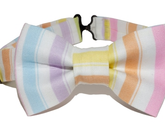 Bow Tie - Rainbow Striped Bowtie