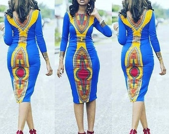 Women's Dress, Women's Clothing, Dashiki Dress, African Dress