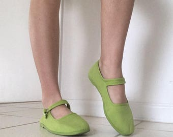 90s Lime Green Mary Janes || Size: US 7