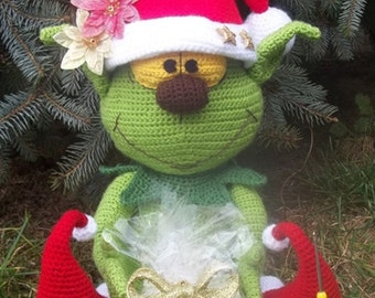 christmas elf, crochet pattern by mala designs