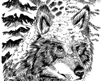 Ivanna and the Wolf Print by Christianne Benedict
