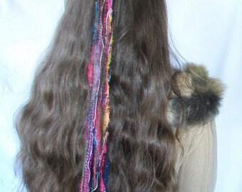 Set of 2 Beautiful Yarn/Ribbon Hair Accessories