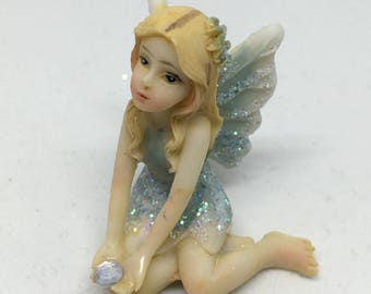 5cm Sitting Fairy / Fairies Ornament Figurine for kids bedroom or Fairy Garden