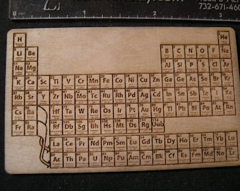 Pocket Periodic Table - Laser Engraved Wood