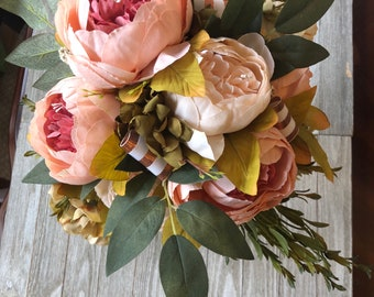 Cascading Peony Bouquet