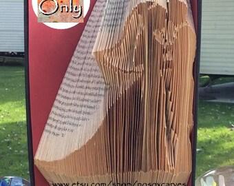 Bride & Groom. Folded Book Art Pattern