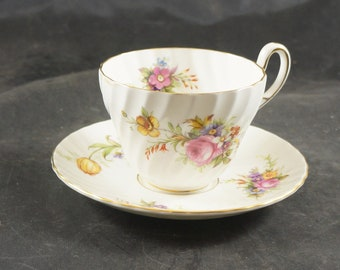 Foley Fine Bone China Cup and Saucer featuring a Floral Bouquet