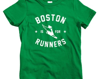 Kids Boston Is For Runners T-shirt - Baby, Toddler, and Youth Sizes - Boston Tee, Running, Marathon - 4 Colors