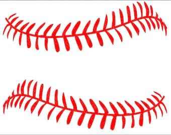Baseball Softball LacesSVG, DXF, EPS, Png Cut File for Cameo and Cricut, Baseball Svg, Baseball Mom, Baseball Cut Files