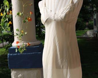 50s Ivory Rose Lace Slip