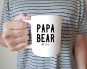 Papa Bear Mug, Gift for h...