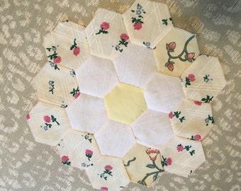 Flower Garden Quilt Block