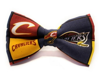 Cleveland Cavaliers Bow Tie | Basketball | NBA | Boys Bow Tie | Dog Bow Tie | Lebron | Gift for Coach | Coach Gift | Basketball bow tie