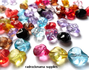 20 Mixed Color Transparent Acrylic Nugget Beads 15x14mm     -C4A