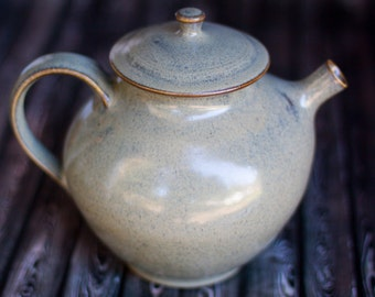 Teapot- Handthrown pottery- 7+ cup capacity, slate grey .