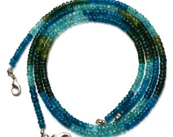Natural Gemstone Multicolor Apatite 4MM Approx. Faceted Rondelle Beads 18 Inch Full Strand Super Fine Quality Beads