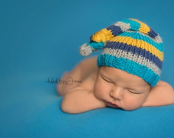 Newborn Knitting Pattern, Newborn Knit Pattern, Newborn Photo Prop Pattern, Newborn Hat Pattern,  KNOT HAT, Lily B's