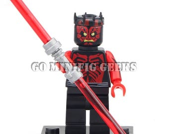 Custom Darth Maul Minifigure Star Wars Fits Lego UK Seller