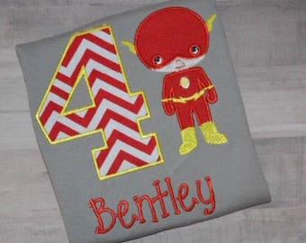 Sale Sale/Embroidered Boys Superhero Shirt