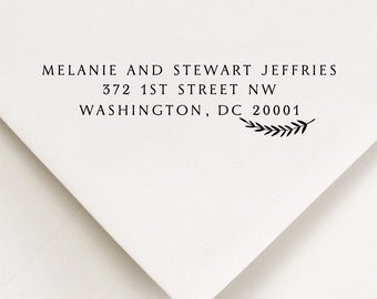 Custom Address Stamp, Custom Address, Laurel Stamp (609)