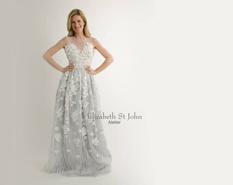 LYTTON 3D Lace Ballgown  | modern bride | lace | colored wedding gown
