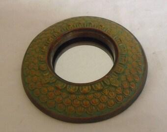 Vintage Hand Painted Porthole Mirror
