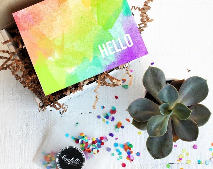 Mini Hello Gift Box - Thinking of You Gift   Thank You Gift   Friend Gift   Miss You Gift   Get Well Gift