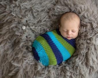 Noah Newborn Snuggle Sack with Optional Matching Beanie and/or Matching Headband