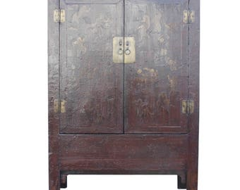 Attrayant Chinoserie Red U0026 Gilt Asian Armoire, Antique Cabinet, Chinese Cabinet,  Asian Cabinet,