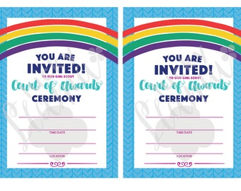 Girl Scout Award Ceremony Invitation/flyer - Instant Download