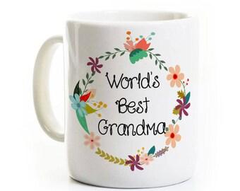 Fête des mères - monde meilleur grand-mère - une tasse de café grand-mère MomMom Grandmom Birthday Gift - peut être personnalisé!