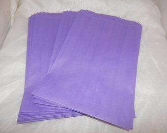 100 6x9 Purple Paper Merchandise Bags, Party Favor Gift Bags, Retail Bags, Gift Bags, Purple Wedding Bags, Bridal Bags,